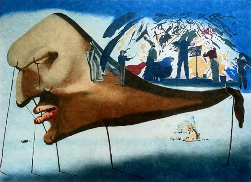 萨尔瓦多·达利语录_萨尔瓦多·达利  睡眠 (亲笔签名版画,版数:25/300)