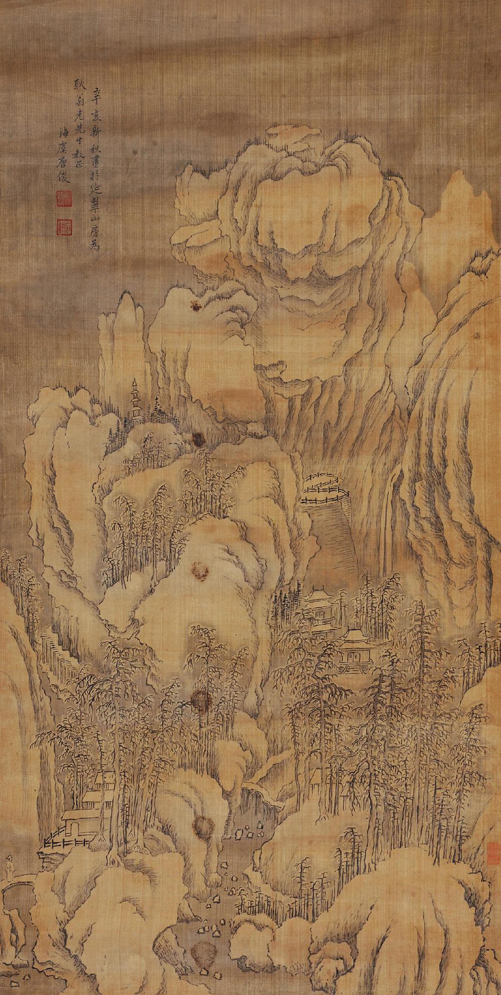 古字画背景素材
