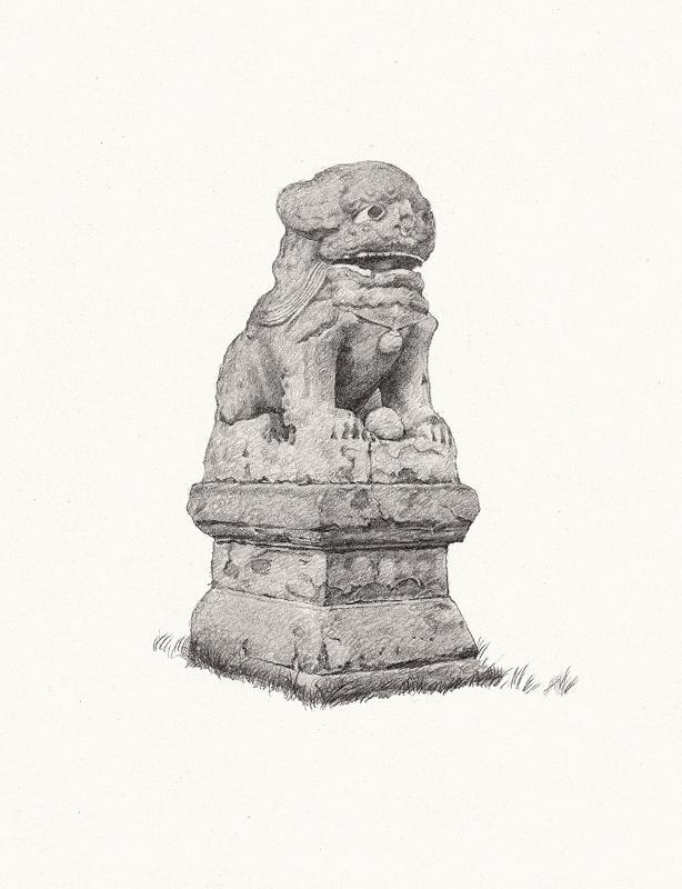 民国先生-石狮子图片