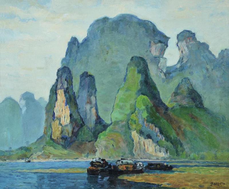 新疆当代风景油画
